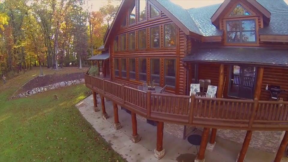 Crooked Lake Log Home – 11240 Oak Dr
