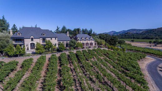 Private Napa Valley View Vineyard Estate - 1050 Olive Hill Lane