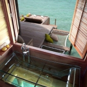 Clear Tub with Ocean View