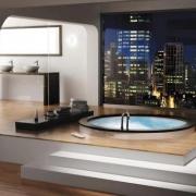 Condo Bath with City View
