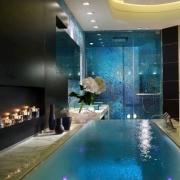 Cool Blue Styled Bathroom