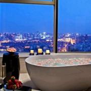 Bathtub with City View