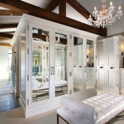 Classy White Walk-in Closet