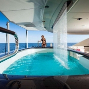 Pool and Water Feature on a Luxurious Yacht