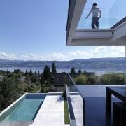 Cool glass deck