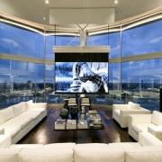 Luxury Movie Room with City Views