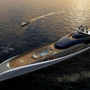 Luxury Yacht with Helicopter Pad