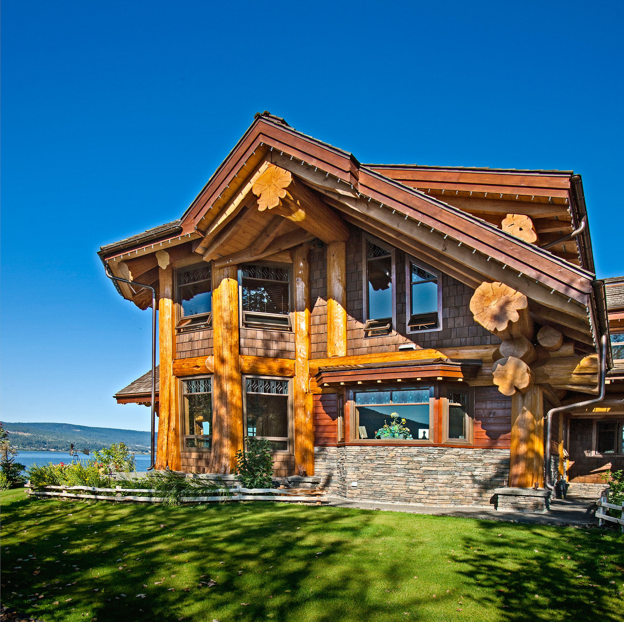 Timber king s log home masterpiece luxuryhomes