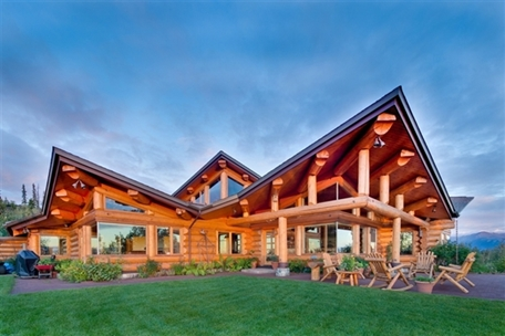Luxury homes details for sold alaskan log at it 39 s finest for Home builders anchorage ak