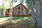 SOLD-Salmon Fishing Paradise with Upscale Four-Season Vacation Log Home!