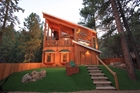 Unique Custom Chalet With Atrium-Like Glass & Wood Superstructure!